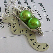 Personalized Pea Pod Necklace