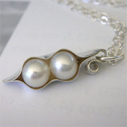 Sterling Silver Peapod Necklace