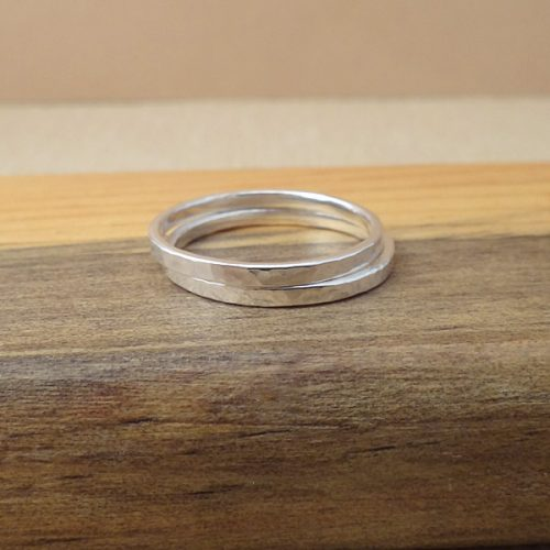 textured stack ring