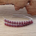 open hoop garnet earrings