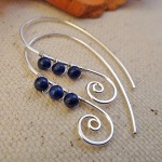 lapis spiral earrings