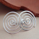 spiral sterling silver earrings