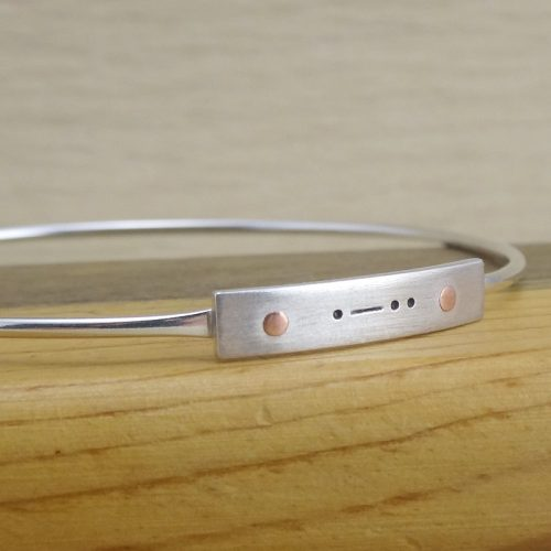 personalized morse code bracelet