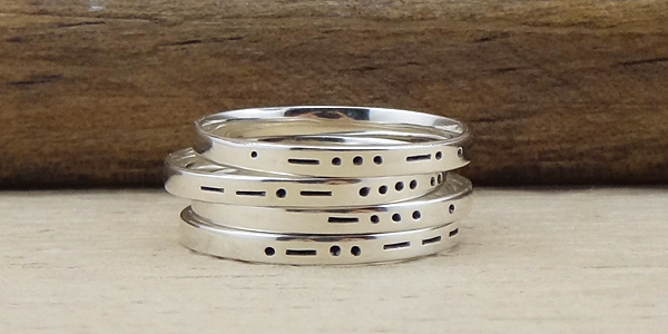 personalized morse code ring