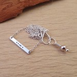 morse code bar necklace
