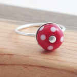 polka dot ring