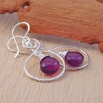 Purple Chalecedony Earrings