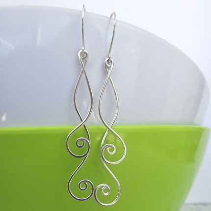 spiral dangle earrings