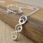 free form circle necklace